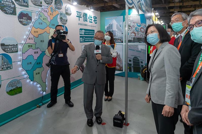 總統出席「第二屆危老+都更博覽會」